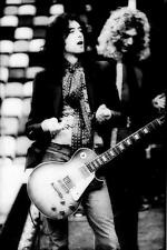 LED ZEPPELIN ROBERT PLANT JIMMY PAGE GIBSON LES PAUL GUITAR CONCERT PHOTO POSTER