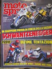 Motosprint 13 1988 Suzuki Schwanz - Test Aprilia Tuareg 350/600 Suzuki GSX 750R