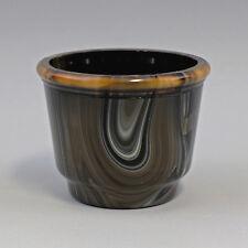 8135018 verre CACHE-POT Bohême um 1930 verre opale achatglas