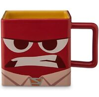 Inside Out Must Control Anger Disney Store Square Mug Coffee Cup Pixar NEW