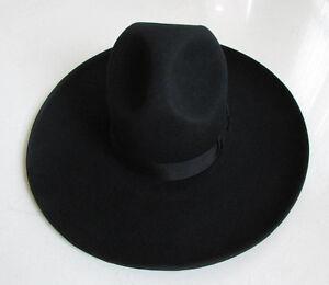 Hot Israel Jewish Hat Wool Hasidic Jews Wide Brim Fedora Cap Black