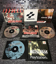 Metal Gear Solid Doppelpack spezielle Missionen Hülle ps1
