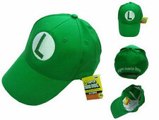 NEW Super Mario Bros Anime Cosplay Kids Adout Hat Luigi L Cap