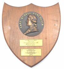 "Marine ship`s vintage ""Capt.George Vancouver"" Ship Antique Shield Plaque & Sign"