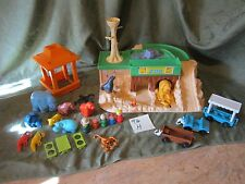 Fisher Price Little People Play Family Zoo Animals Mom Dad train Picnic 916 H