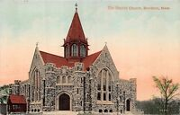 BROCKTON MASSACHUSETTS BAPTIST CHURCH~HUGH LEIGHTON PUBL POSTCARD 1912