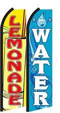 Lemonade, Water  Standard Size  Swooper Flag banner  sign pk of 2
