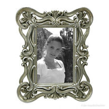 Rokoko Barock Bilderrahmen Fotorahmen Rechteckig 10x15 Silber Vintage Stil Antik