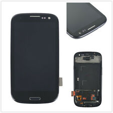 For Samsung Galaxy S3 i9300 LCD Touch Screen Glass Panel Digitizer + Frame Black