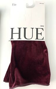 HUE Velvet Sock in O/S Currant-Purple U19099