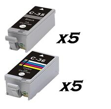 10 INKs PGI 35 & CLI 36 FOR CANON PIXMA IP100 IP100