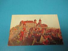 Nurnberg Burg Von Suden  Postmarked Vintage Color Postcard PC28