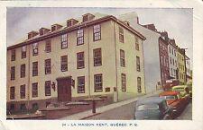 Canada Quebec Ville City - La Maison Kent 1960 postcard
