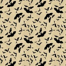 Wilmington Come Sit A Spell 84398 199 Cream Bats BTY Cotton Fabric