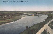 St. John River below EDMUNDSTON New Brunswick Canada 1920s Novelty Mfg. Postcard