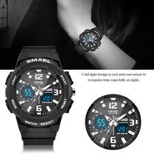 SMAEL Mens Womens Ladies Teen's Watches Sports Waterproof LED Quartz Wrist Watch