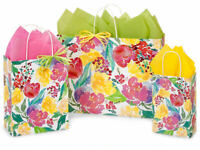 WATERCOLOR BLOOM Design Party Gift Paper Bag ONLY Choose Size & Pack Amount