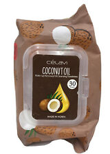 Coconut Oil Makeup Remover Oil Cleansing Towelettes 30 Sheets Free Shipping!