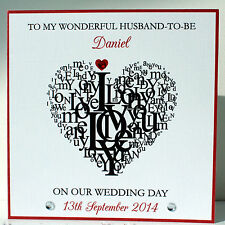 Handmade Personalised  Husband to Be / Wife to Be Wedding Day Card