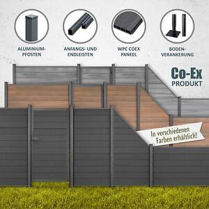 TOMI WPC COEX Sichtschutzzaun Premium Line Windschutz Gartenzaun Zaun Anthrazit