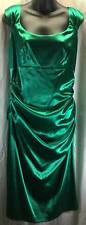 London Times Dress Size Petite Large 12P-14P Green Bodycon Sheath Women 6674