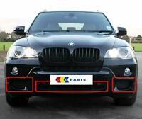 BMW NEW GENUINE X5 E70 2007-2010 M SPORT FRONT BUMPER LOWER GRILL SET 3 PIECES