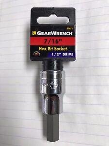 """Gearwrench 80653 1/2"""" Drive Hex Bit Socket 7/16"""""""