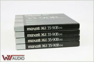 Maxell XL1 35-90B Price is for four pieces. Recorded Once.