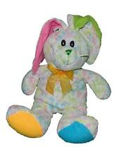 "Sugar Loaf White Floral Print Bunny Rabbit Plush Stuffed Animal 17"""