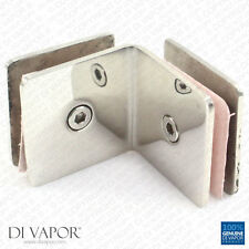 Di Vapor 90 Degree Stainless Steel Glass to Glass Corner Clamp Bracket for Door