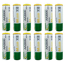 12 pcs AA LR06 3000mAh 1.2V Rechargeable NI-MH battery CELL RC Toy BTY Green
