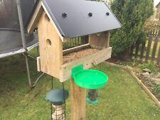 XL Birdbath / Feeder Fence Or Post Mounted For Bird Table Bath Drink Water Bowl