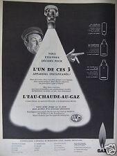 PUBLICITÉ 1959 APPAREILS INSTANTANÉS AU GAZ L'EAU CHAUDE AU GAZ - ADVERTISING