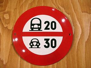 PLAQUE EMAILLEE panneau limitation vitesse auto camion voiture SPEED LIMIT SIGN