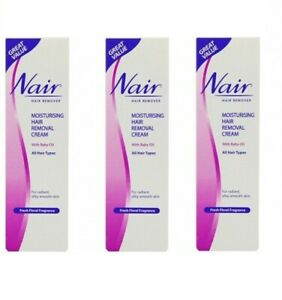 3x Nair Moisturising Hair Removal Cream 80ml
