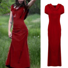 Women Medieval Renaissance Vintage Hooded Long Dress Gowms Dress Cosplay Costume