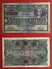 alter Geldschein Österreich 1924 Zehntausend Kronen Nationalbank 1038 ( 75018