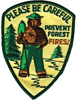 """⫸ Official SMOKEY BEAR """"Please Be Careful"""" US Forest Embroidered Patch NEW  c"""
