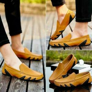 Mens Slip On Driving Moccasins Soft Comfort Leisure Faux Leather Loafers Shoes M