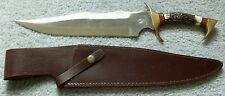 """Whitetail Cutlery Bowie Stag Knife w/ Sheath 17"""" (Discontinued)"""