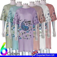 Vestido de noche Señoras Ropa de Dormir Camisón soñando Bunny divertido 100% Algodón Pijamas