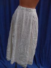Vintage  Edwardian white Linen Skirt TLC Flare S