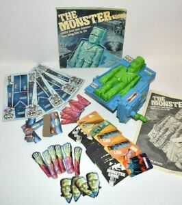 "1977 IDEAL TOYS THE MONSTER GAME ""All Pieces but No Box"" Frankenstein Laboratory"