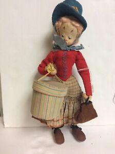 "Vintage Roldan Doll? Female Woman W/ Gift Bag & Purse Beautiful  12"""