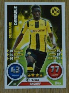Topps Match Attax 16/17 Nr. 87 Ousmane Dembele Rookie 2016/2017