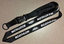 Biathlon Lanyard (.75-inches / 19 mm) - Black