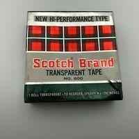 "NOS Vintage Scotch Brand NO. 600 Transparent Tape 3/4"" X 1296"" Sealed Box Y6"