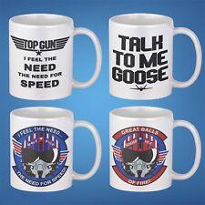 Top Gun Coffee Mug Gift Set of 4 - 11oz Maverick Goose Gifts For him Birthdays