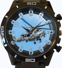 Military MI 24 Helicopter Gunship New Trendy Sports Series Unisex Gift Watch