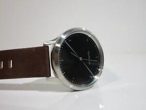 Garmin vivomove HR Premium Gold Tone with Italian Leather Smartwatch Watch Rare